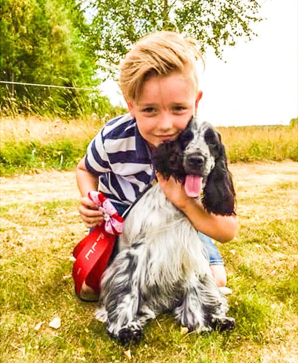 """Max Svensson - vinnare i """"Barn med hund""""."""